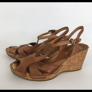 Clarks Artisan Collection Wedge Sandals Leather 7M